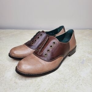 Cole Haan Leather Saddle Shoes Women's 6 Brown Tan